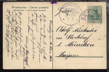 msp 29 17 3 14 sms goeben auf cak von der mittelmeer reise 1914 aus venedig ebay. Black Bedroom Furniture Sets. Home Design Ideas